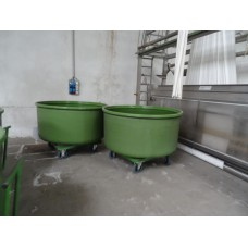TRUCKS & DYE TUBS FOR FABRIC